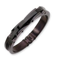 Stainless Steel Black IP-plated Bangle
