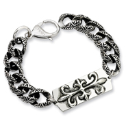 Stainless Steel Antiqued Gothic Bracelet