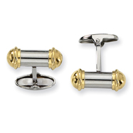 Stainless Steel 24k Gold Plating Cuff Links