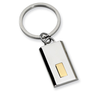 Stainless Steel 24k Gold-plating Key Chain