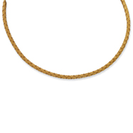 4.0mm Genuine Leather Weave Necklace