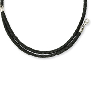 3.0mm Genuine Leather Weave Necklace