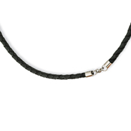 4.0mm Geniune Leather Weave Necklace
