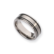 Titanium Black Accent 8mm Brushed And Polished Band