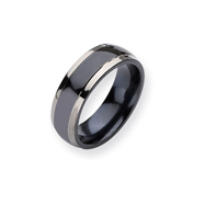 Titanium Two-tone 7mm Polished Band