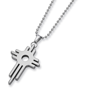 Tungsten Cross Necklace