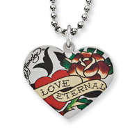 Ed Hardy Eternal Love Rose Heart Necklace