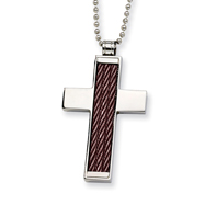 Stainless Steel Chocolate Color IP-plated Cross Pendant