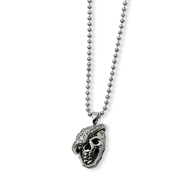 Stainless Steel Skull With Diamond Necklace