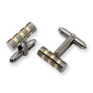 Titanium Gold Accent Cuff Links