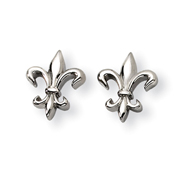 Titanium Fleur De Lis Earrings