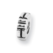 Sterling Silver Reflections Notched Spacer Bead