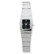 Ladies Chisel Tungsten Black Dial Watch