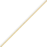 Yellow Rhodium Over Brass 1.50mm Plated Ball Chain