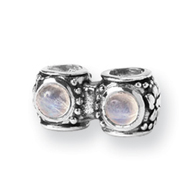 Sterling Silver Reflections CZ Connector Bead