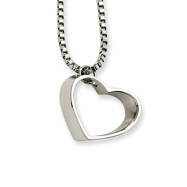 Stainless Steel Heart Pendant Necklace