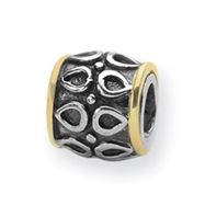 Sterling Silver & 14K Gold Reflections Barrel Bead