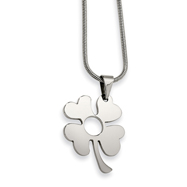 Stainless Steel Four Leaf Clover Pendant Necklace