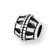 Sterling Silver Reflections Barrel Bead