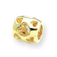 14K Gold  Reflections Heart Bead