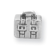 Sterling Silver Reflections Kids Suitcase Bead