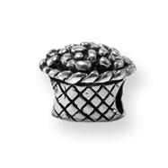Sterling Silver Reflections Kids Flower Basket Bead