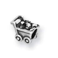 Sterling Silver Reflections Kids Shopping Cart Bead