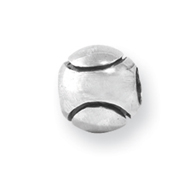 Sterling Silver Reflections Kids Baseball Bead