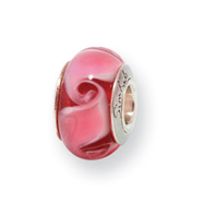Sterling Silver Reflections Kids Pink Murano Glass Bead