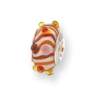 Sterling Silver Reflections Kids Red Murano Glass Bead