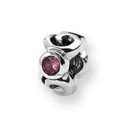 Sterling Silver Reflections Pink Cubic Zirconia Bead