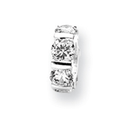 Sterling Silver Reflections Cubic Zirconia Bead