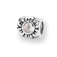 Sterling Silver Reflections Synthetic Opal Cubic Zirconia Bead