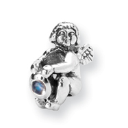 Sterling Silver Reflections June Cubic Zirconia Antiqued Bead