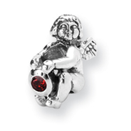 Sterling Silver Reflections July Cubic Zirconia Antiqued Bead