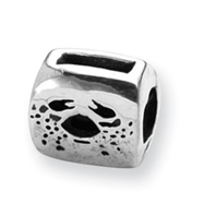 Sterling Silver Reflections Cancer Zodiac Antiqued Bead