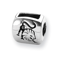 Sterling Silver Reflections Leo Zodiac Antiqued Bead