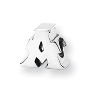 Sterling Silver Reflections Letter A Bead