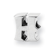 Sterling Silver Reflections Letter H Bead
