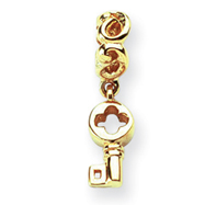 14K Gold Reflections Key Dangle Bead