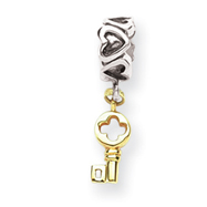 Sterling Silver & 14K Gold Reflections Key Dangle Bead