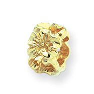 14K Gold Reflections Floral Bead