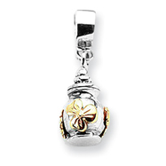 Sterling Silver & 14K Gold Reflections Floral Ash Dangle Bead