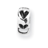Sterling Silver Reflections Heart With Loop For Click-on Bead