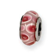 Sterling Silver Reflections Pink/Red Murano Glass Bead
