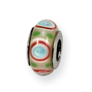Sterling Silver Reflections Multi Murano Glass Bead