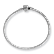 Sterling Silver Reflections Clasp Bead Bracelet