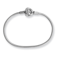 Sterling Silver 13cm Reflections Kids Clasp Bracelet