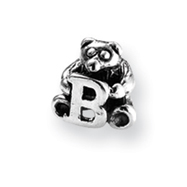 Sterling Silver Reflections Kids Letter B Bead
