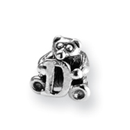 Sterling Silver Reflections Kids Letter D Bead